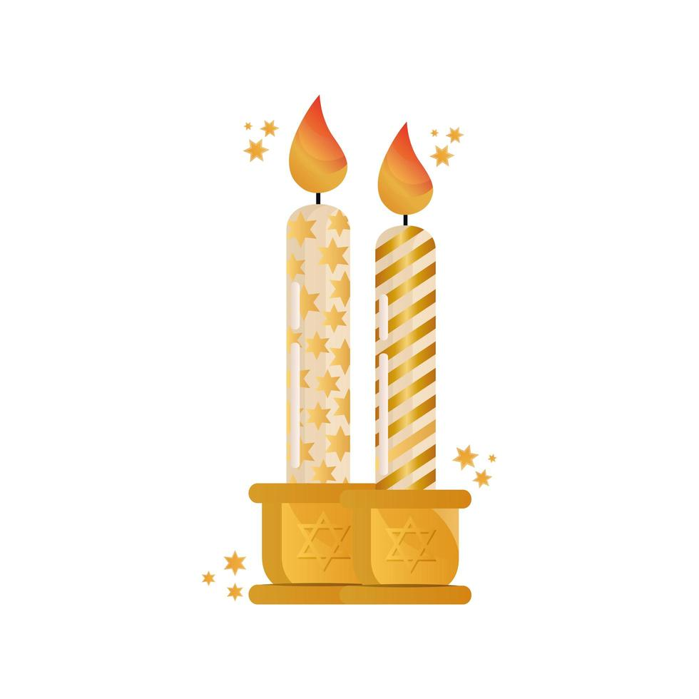 paraffin candles celebration isolated icon vector