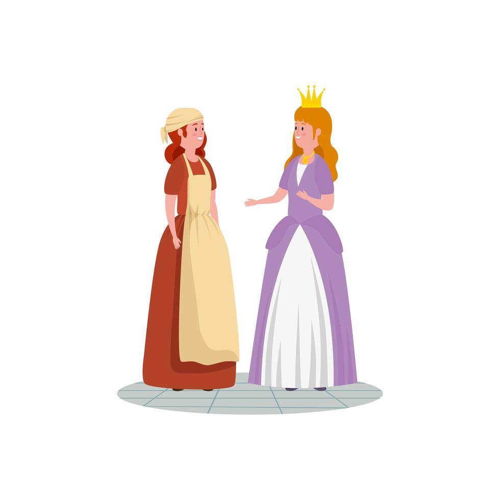 Cenicienta con personaje de avatar de princesa de cuento de hadas vector