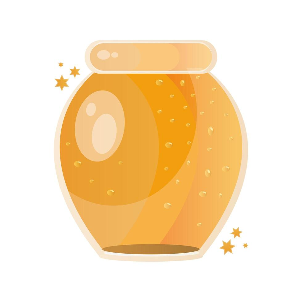 miel dulce en icono de tarro de masón vector