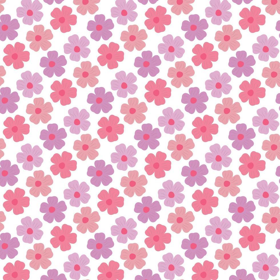 patrón de flores de colores vector