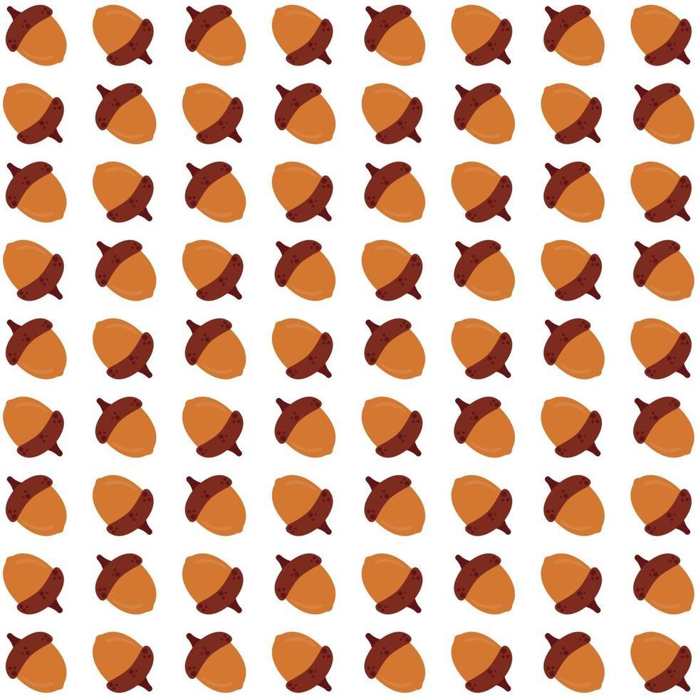 bellotas amarillas de patrones sin fisuras vector