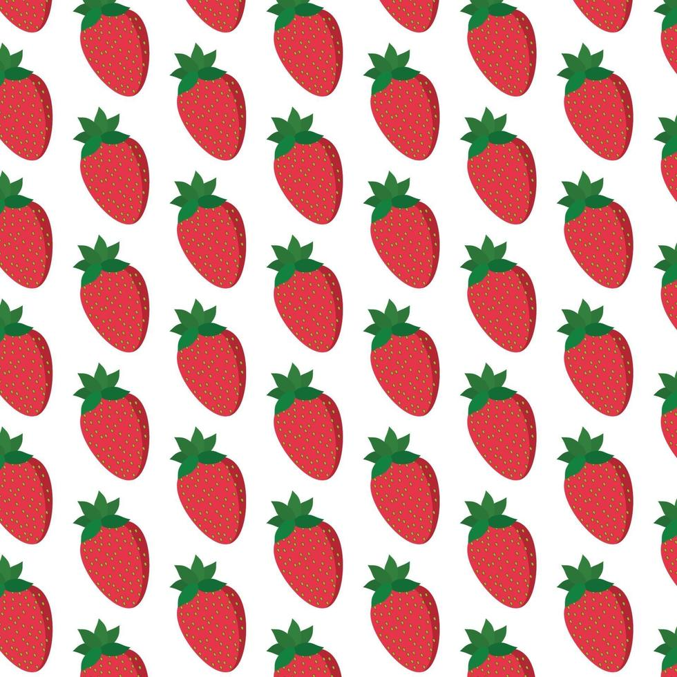 patrón de fresas en blanco vector