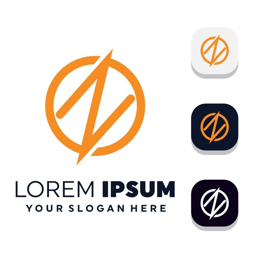 Creative letter s concept logo design templates vector