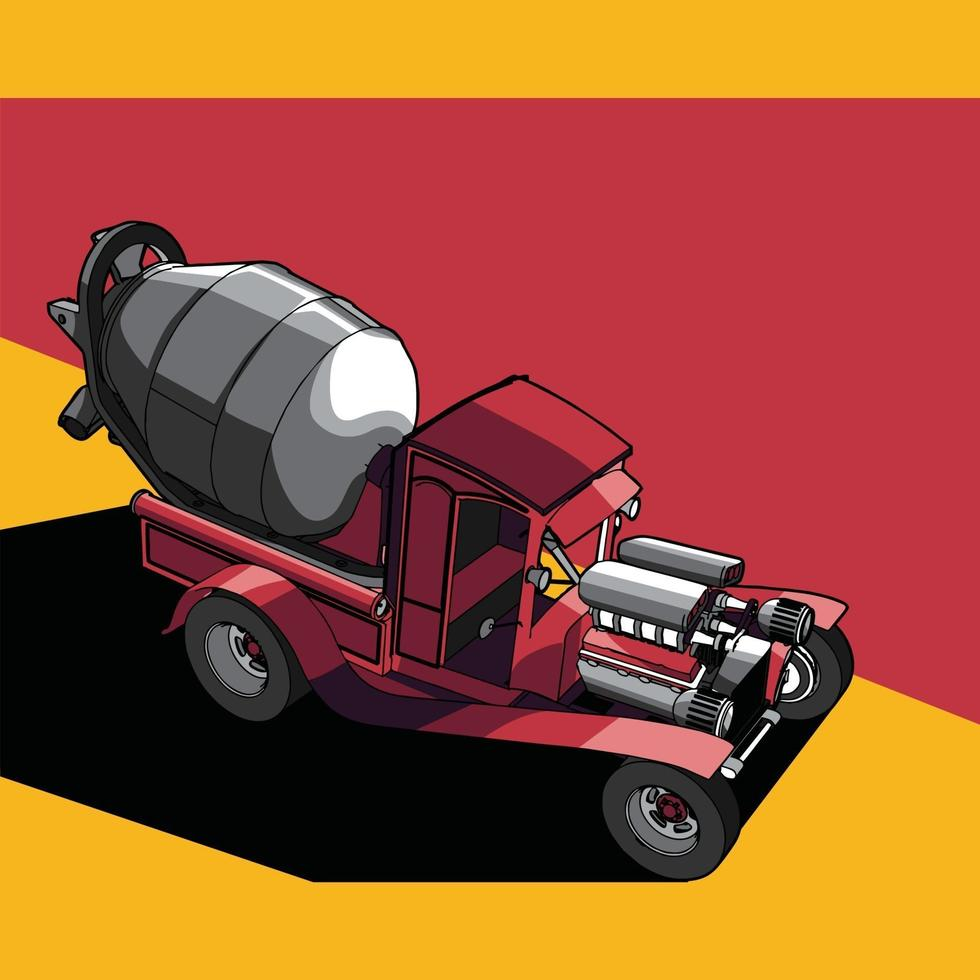 illustration of a modified car vector