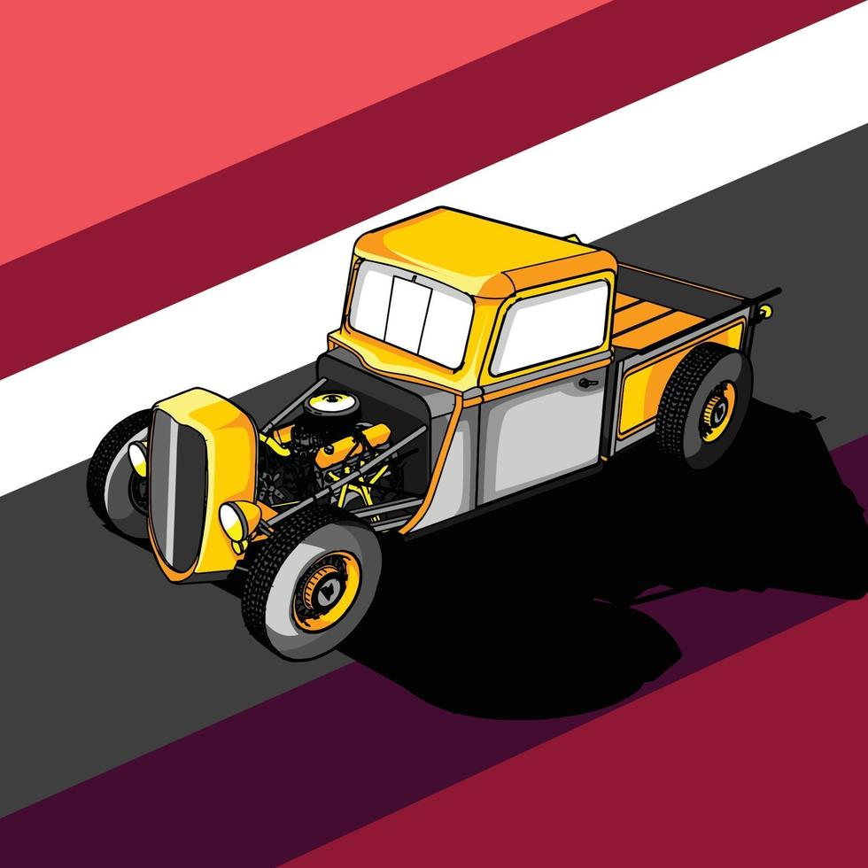 illustration of a retro car vector
