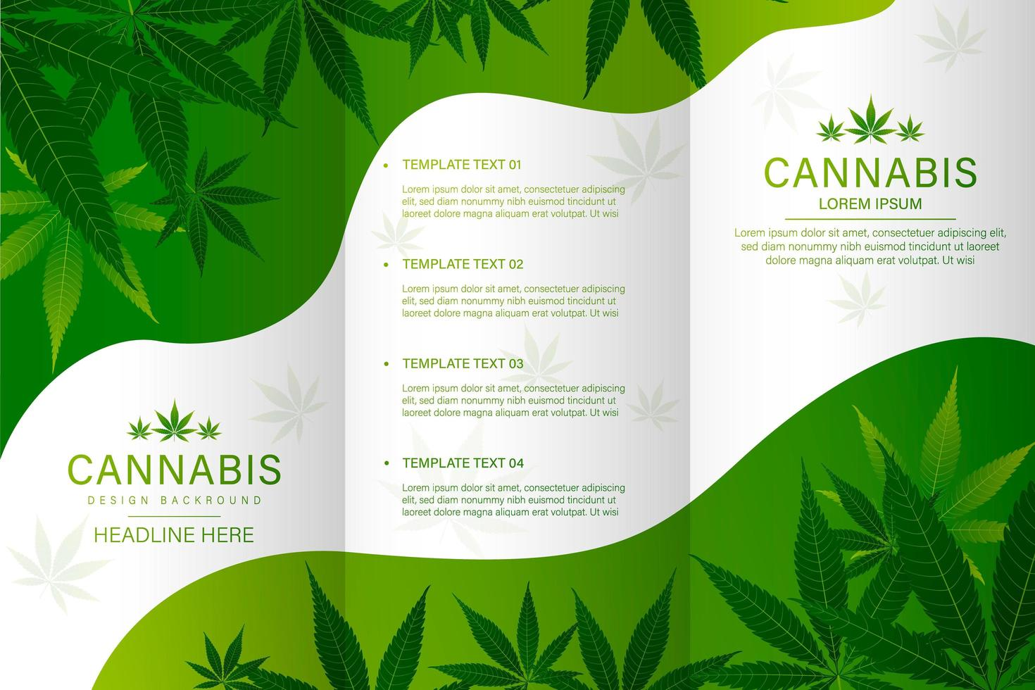 Cannabis medical bottle brochure vector