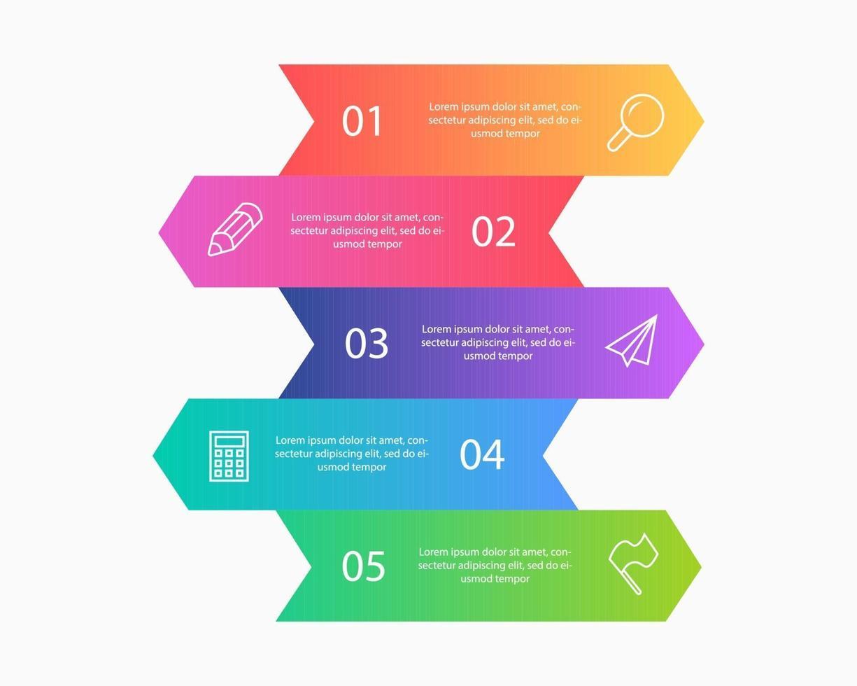 Colección de infografías de negocios, diseño de ilustraciones vectoriales vector
