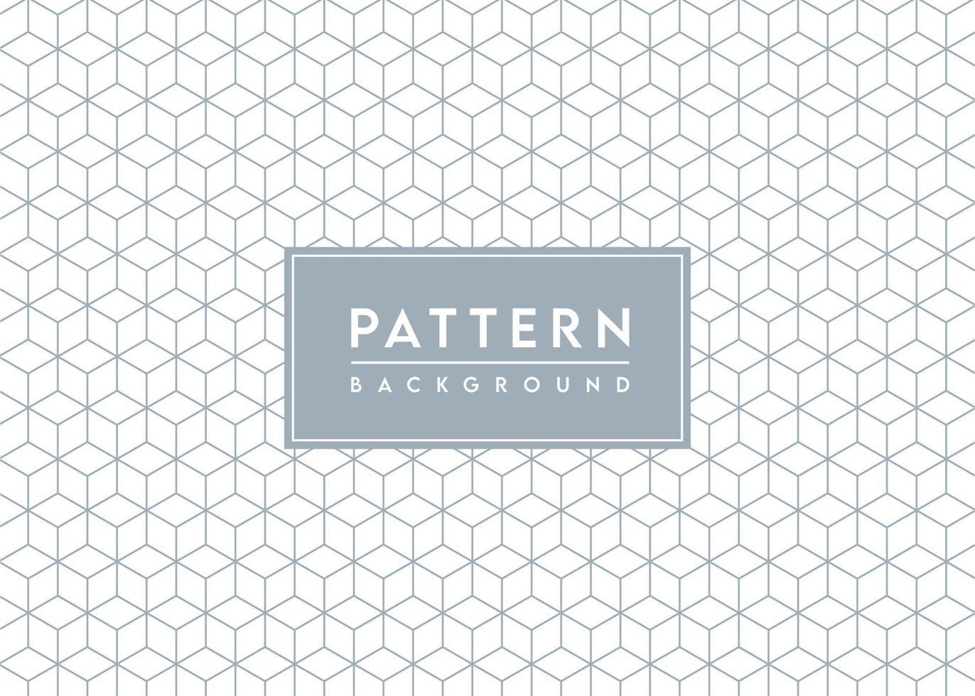 Cube Pattern Background Textured Vector Design