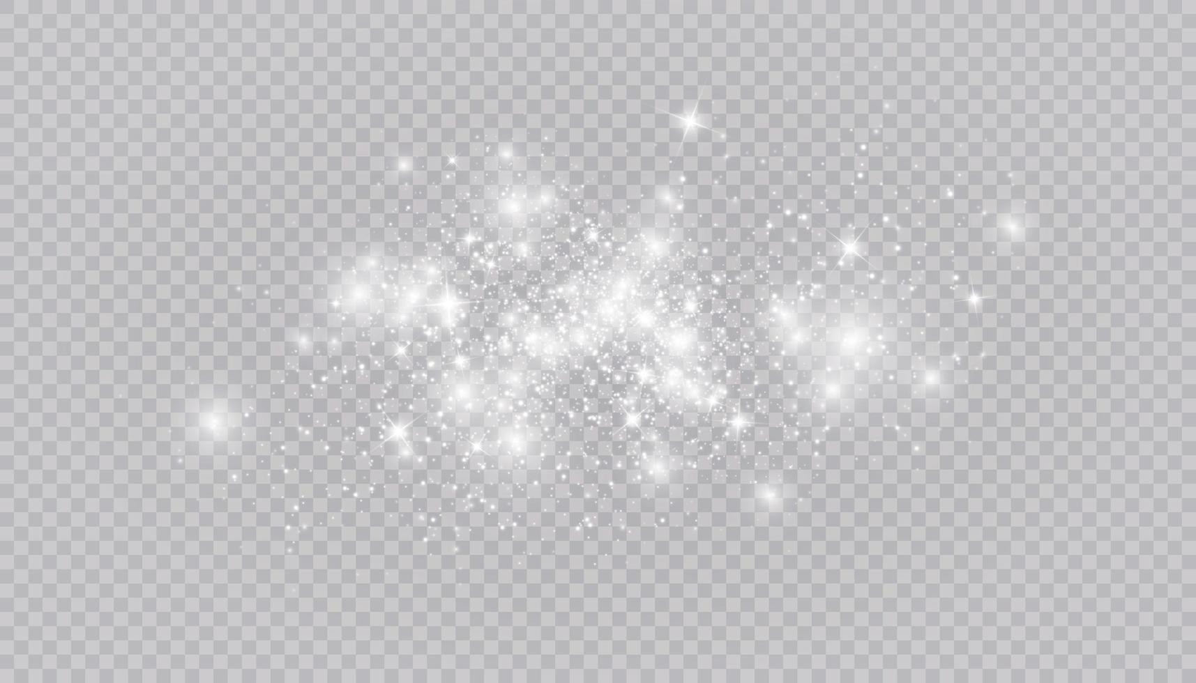 Glowing light effect with many glitter particles isolated vector