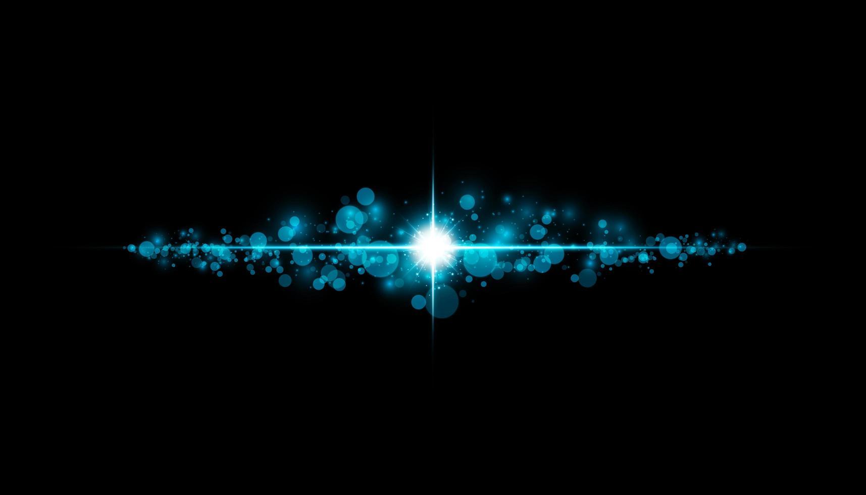 resplandor aislado efecto azul transparente, destello de lente vector