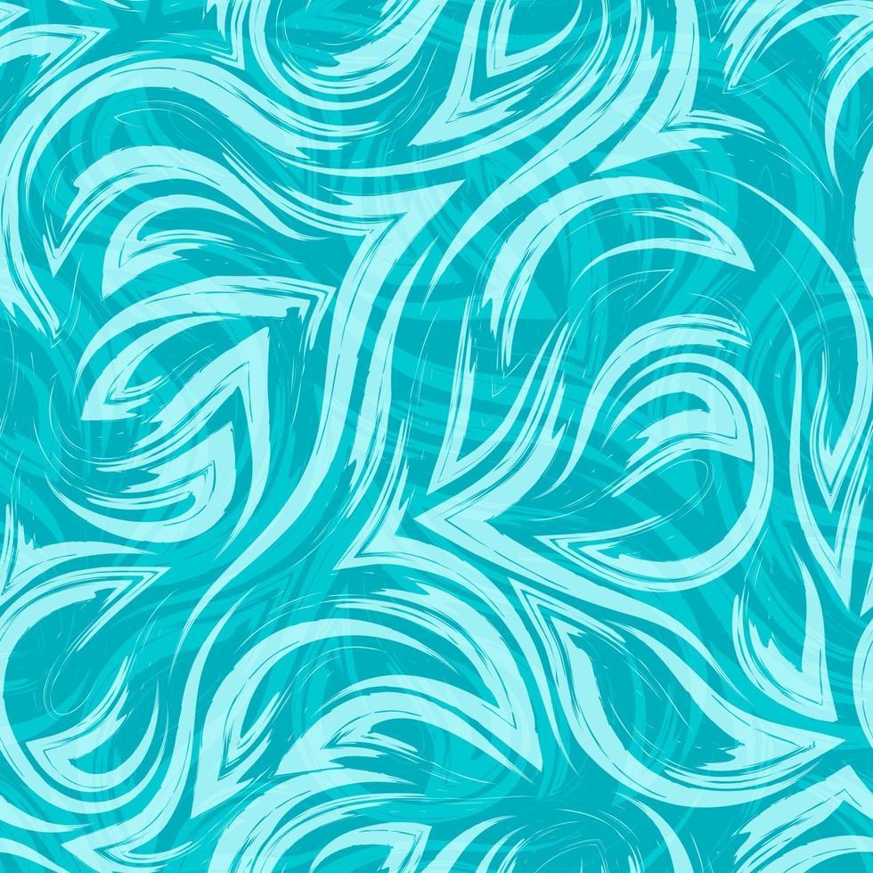 turquesa vector geométrico de patrones sin fisuras desde las esquinas de líneas fluidas y ondas sobre fondo turquesa textura de río de agua o mar.