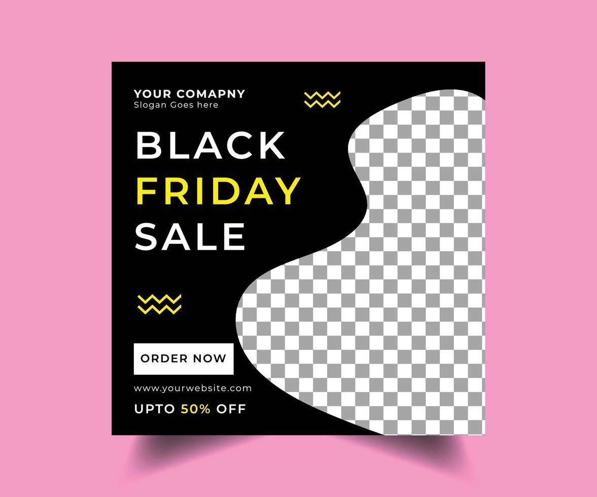 Black friday social media post design vector
