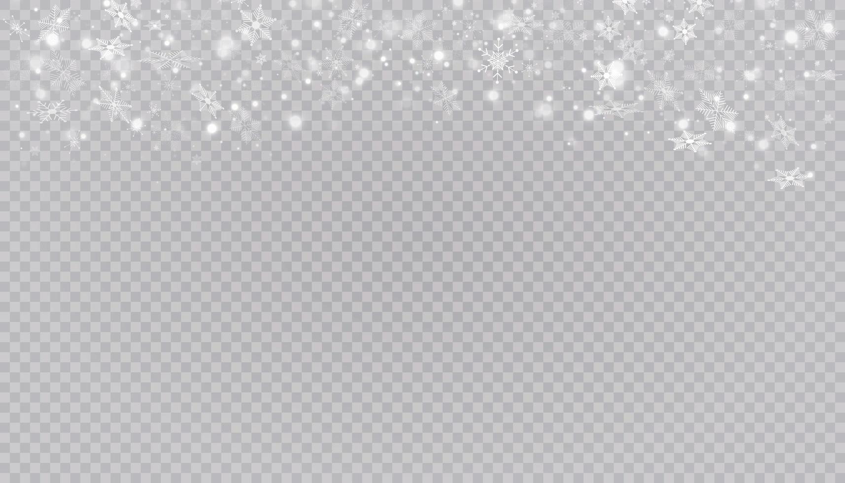 copos de nieve blanca en el fondo. vector
