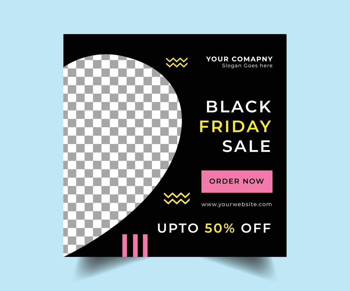 diseño de publicación de venta de redes sociales de viernes negro vector