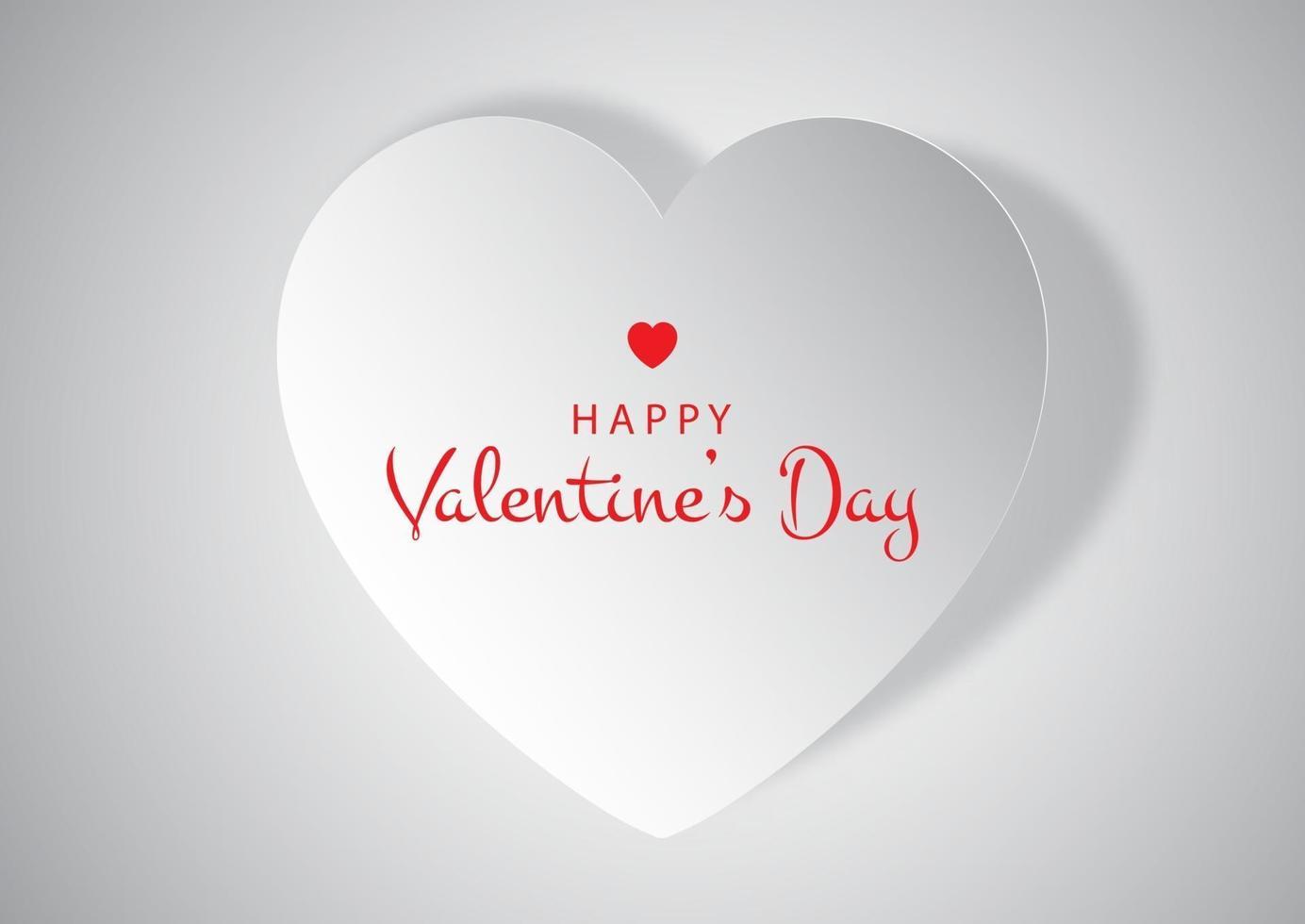 fondo de corazón cortado en papel del día de san valentín vector
