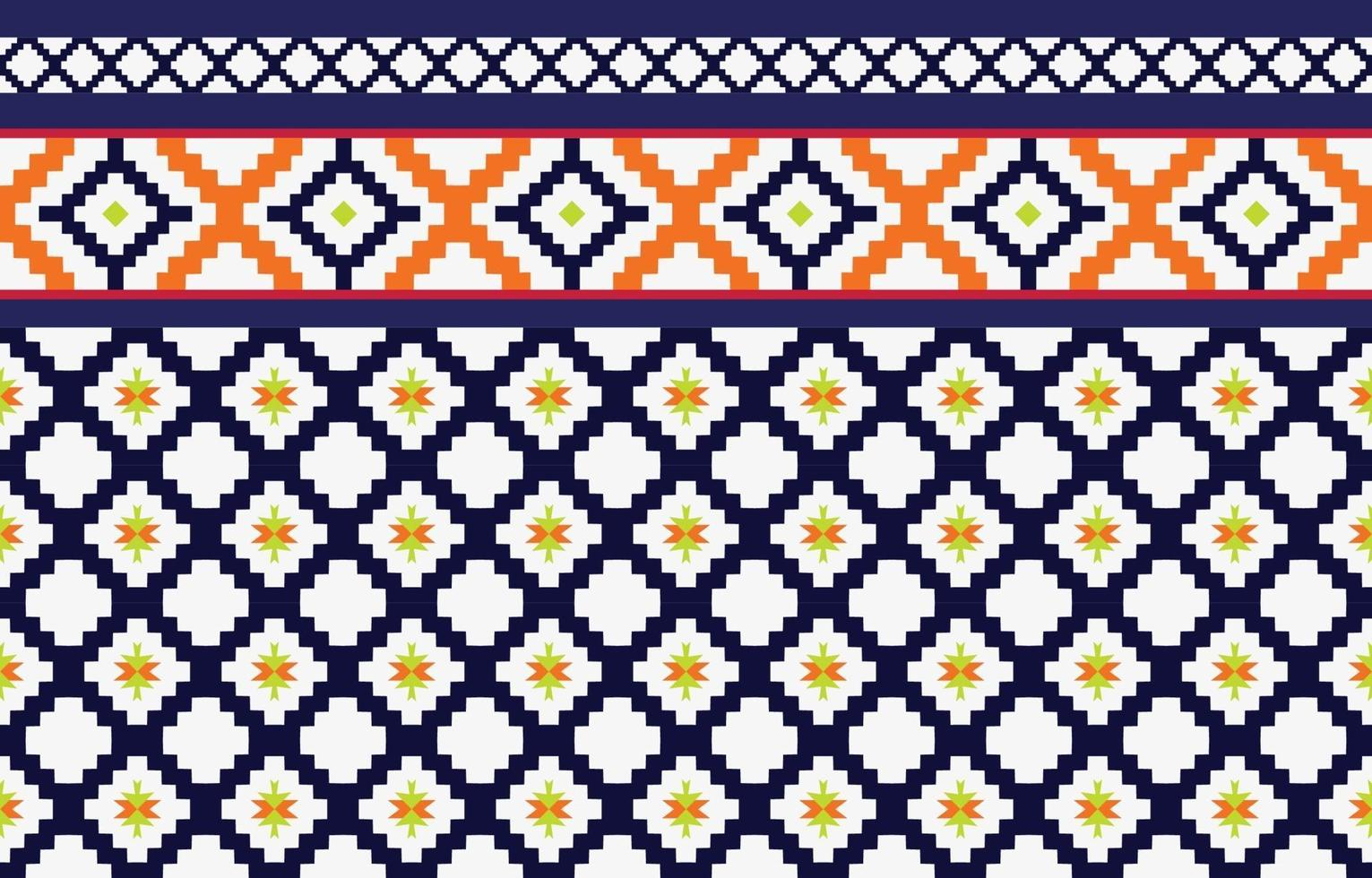Abstract ethnic geometric ethnic pattern traditional Design for a background vector