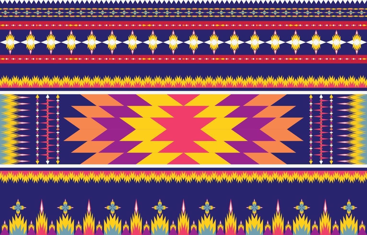 Diseño tradicional de patrón étnico geométrico étnico abstracto para un fondo vector