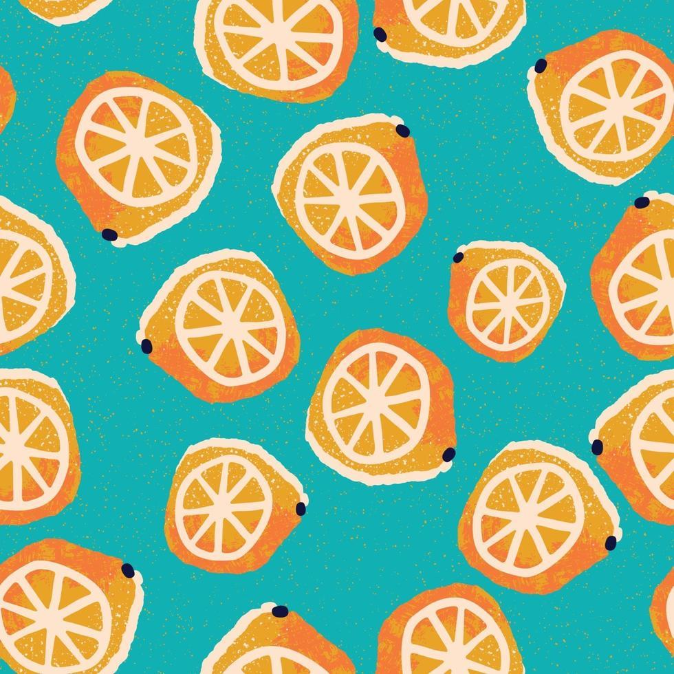 Hand-drawn lemons seamless pattern vector