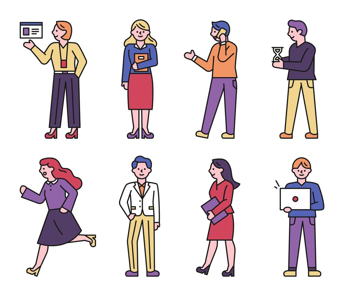 Business people character collection. vector