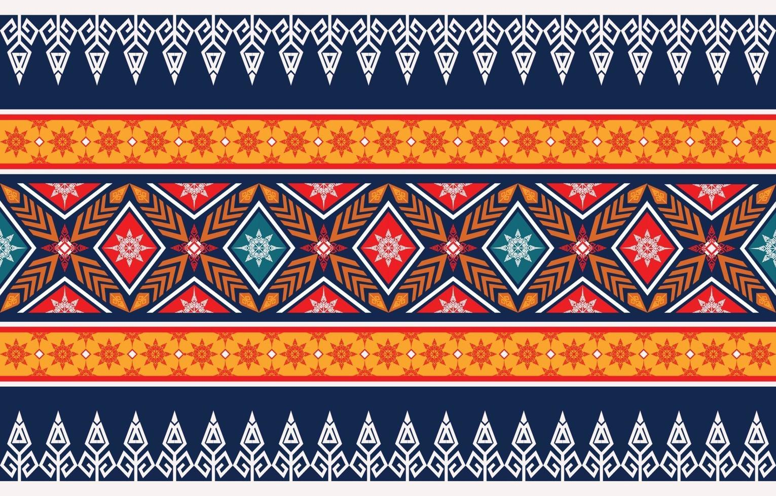 Abstract ethnic geometric pattern design for background vector