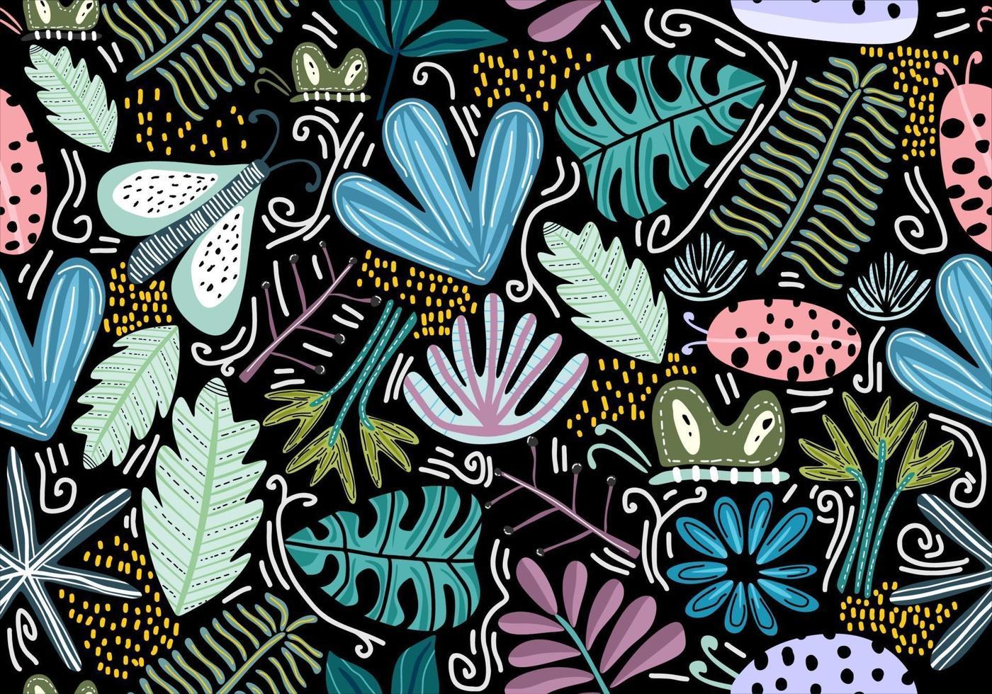 patrón transparente con flores decorativas. vector