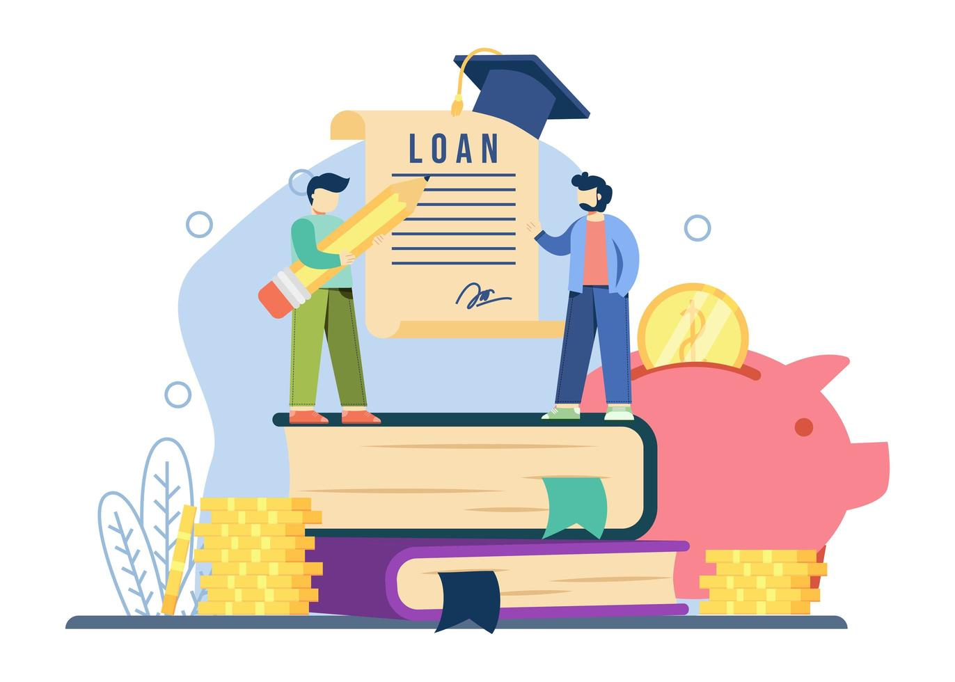 Student loan concept vector