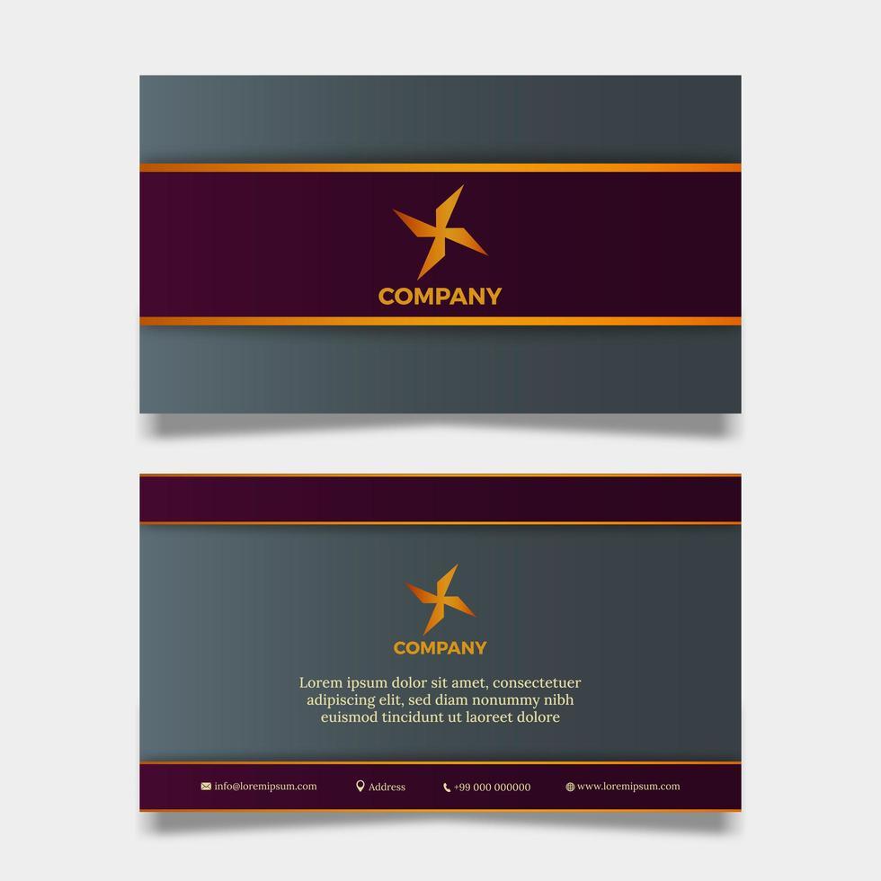 tarjeta de empresa u organización con forma de molinete vector