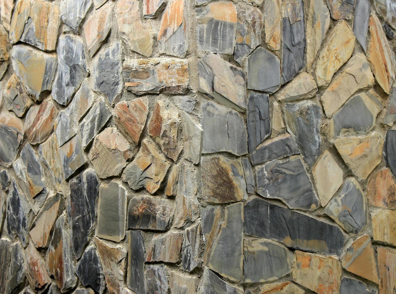 piedra marrón y gris foto