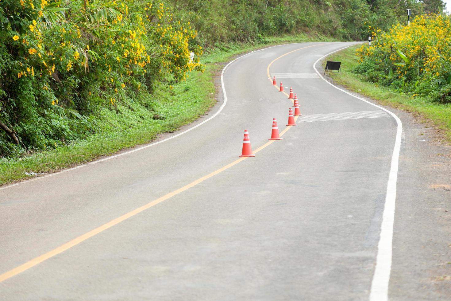 curva de la carretera foto