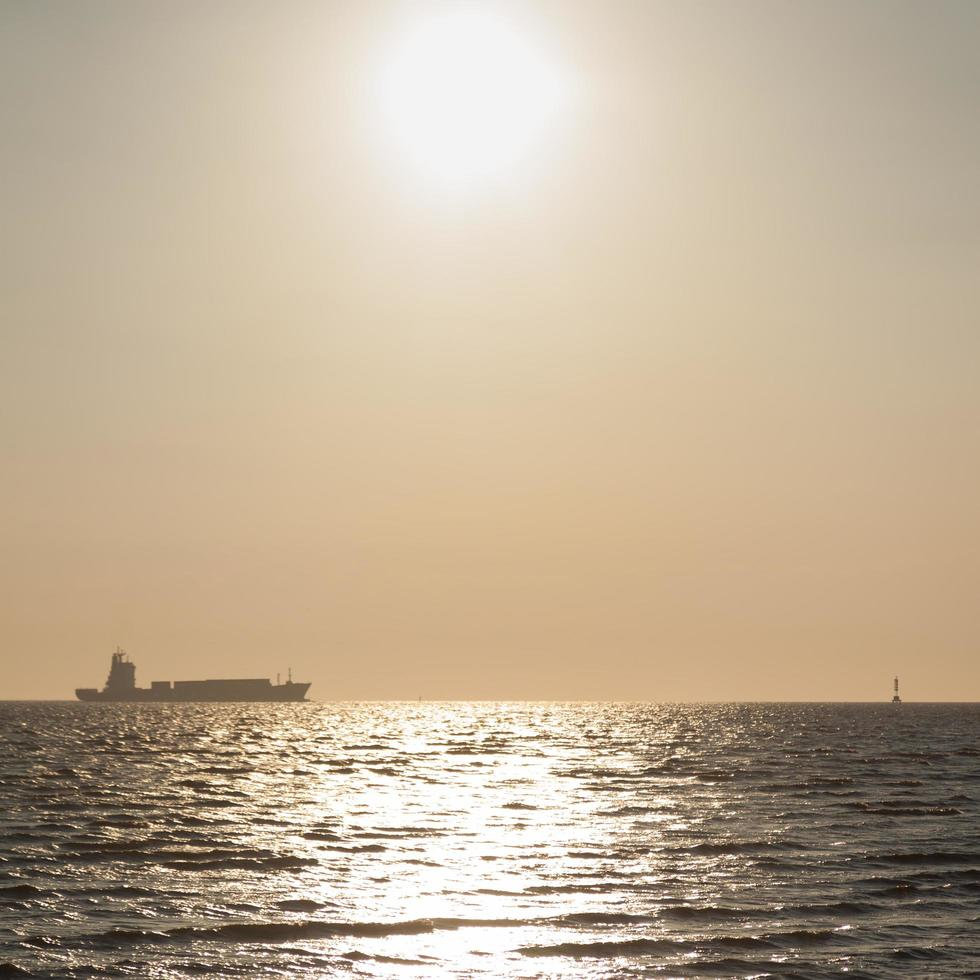 Large cargo ships on the sea photo