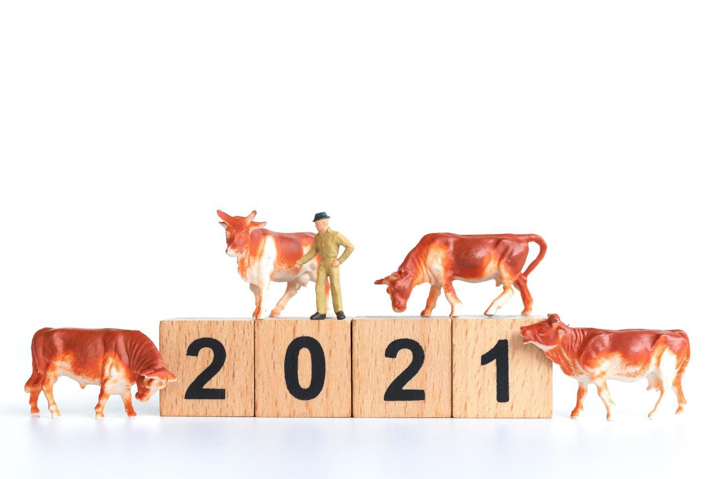 minifiguras de buey del año 2021 foto