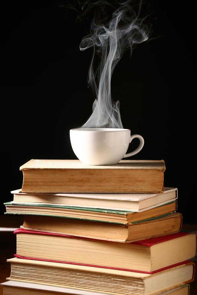 café en libros foto
