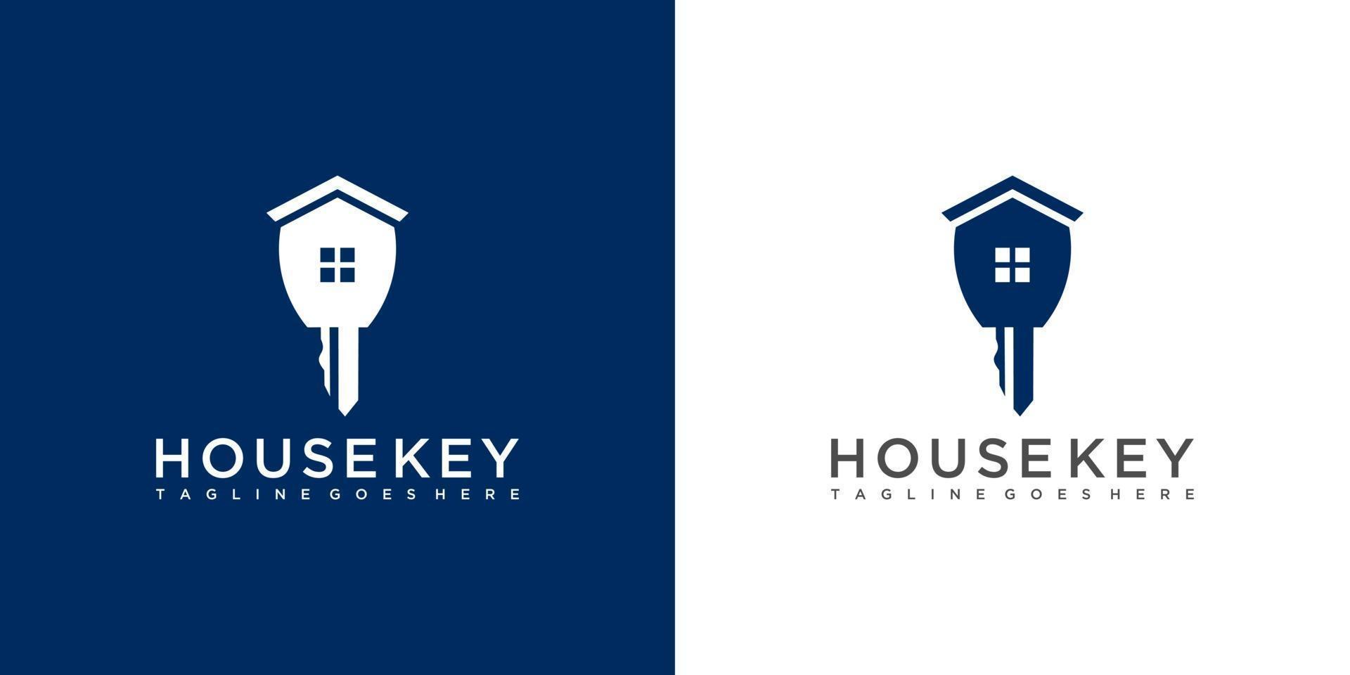 diseño de logotipo inmobiliario clave vector