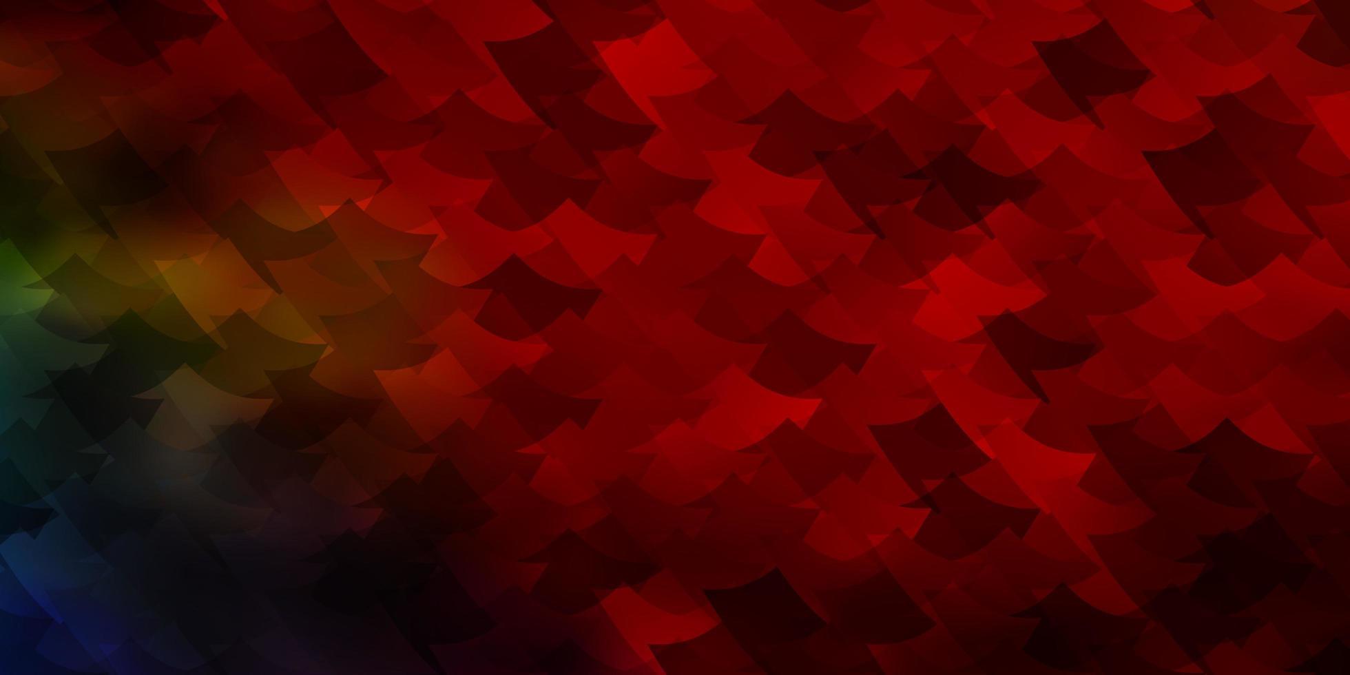 plantilla de vector multicolor oscuro con rectángulos.