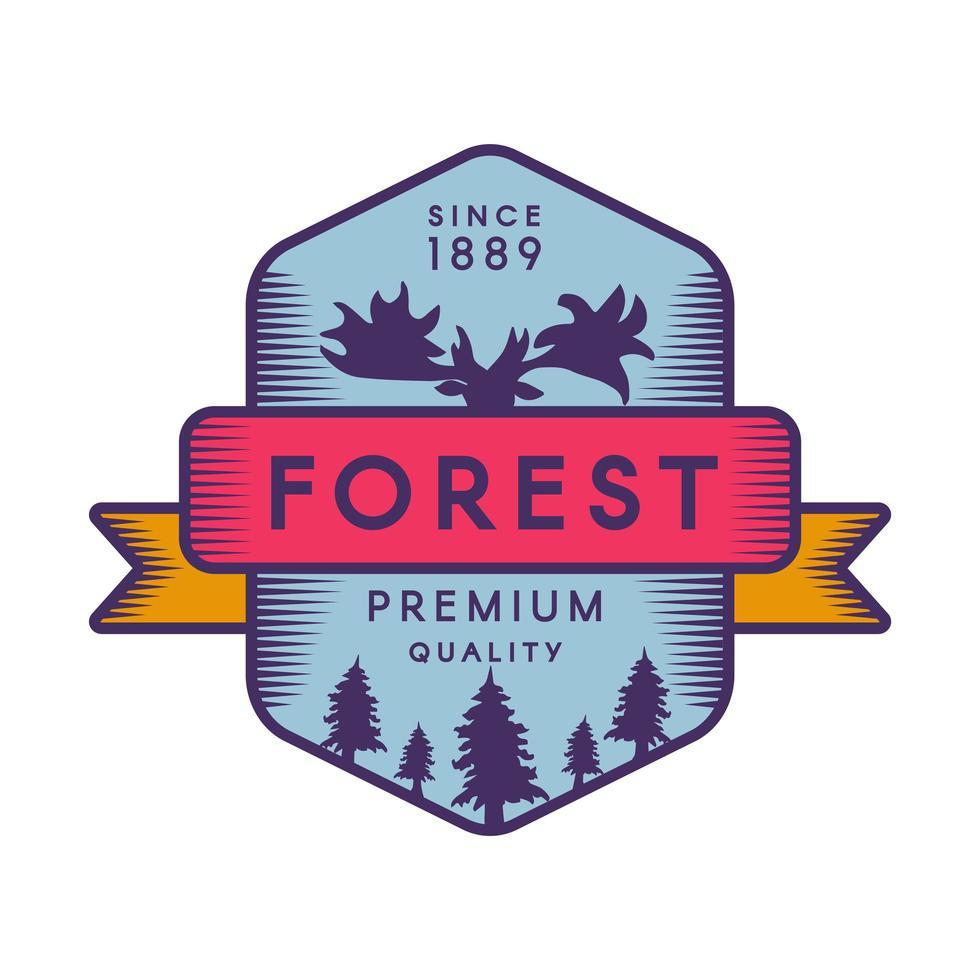 plantilla de logotipo de color de bosque vector