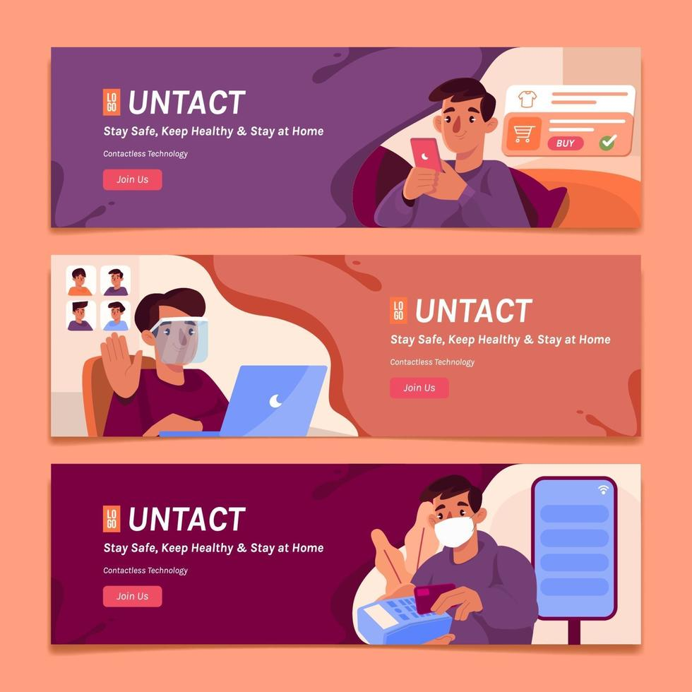 Contactless Technology In Everyday Activities vector