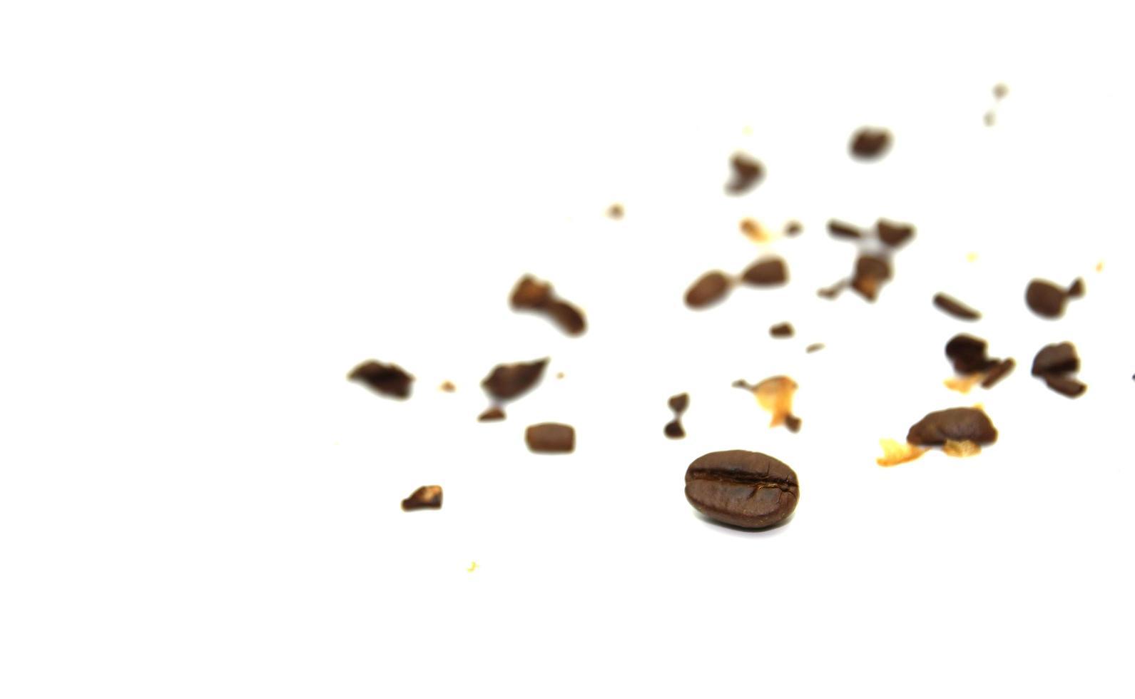 trozos de granos de café rotos foto