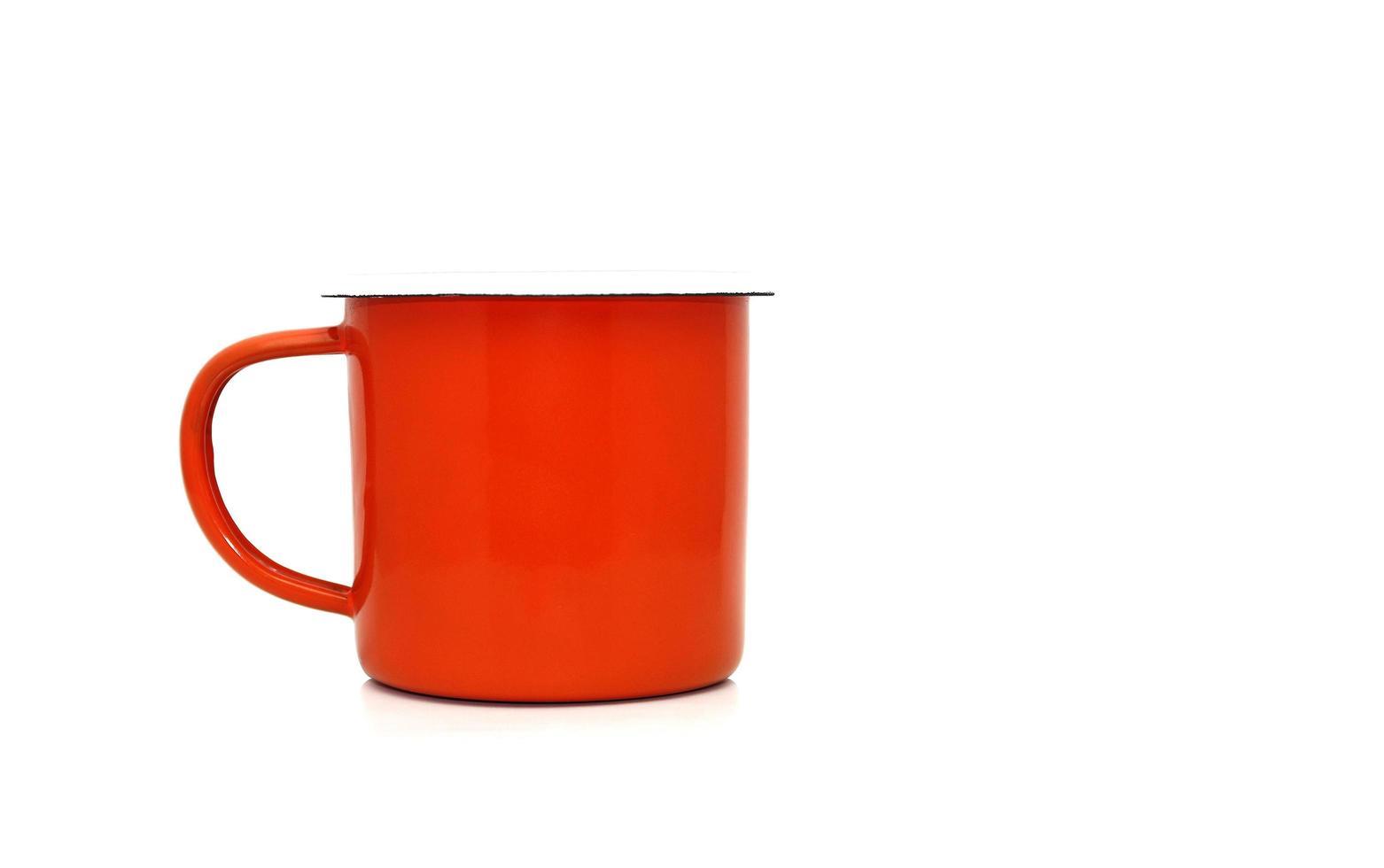 taza de café rojo foto