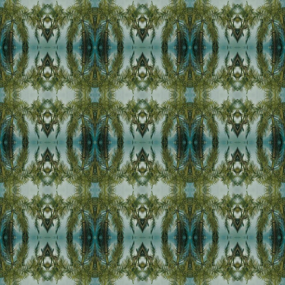 patrón verde simétrico abstracto foto