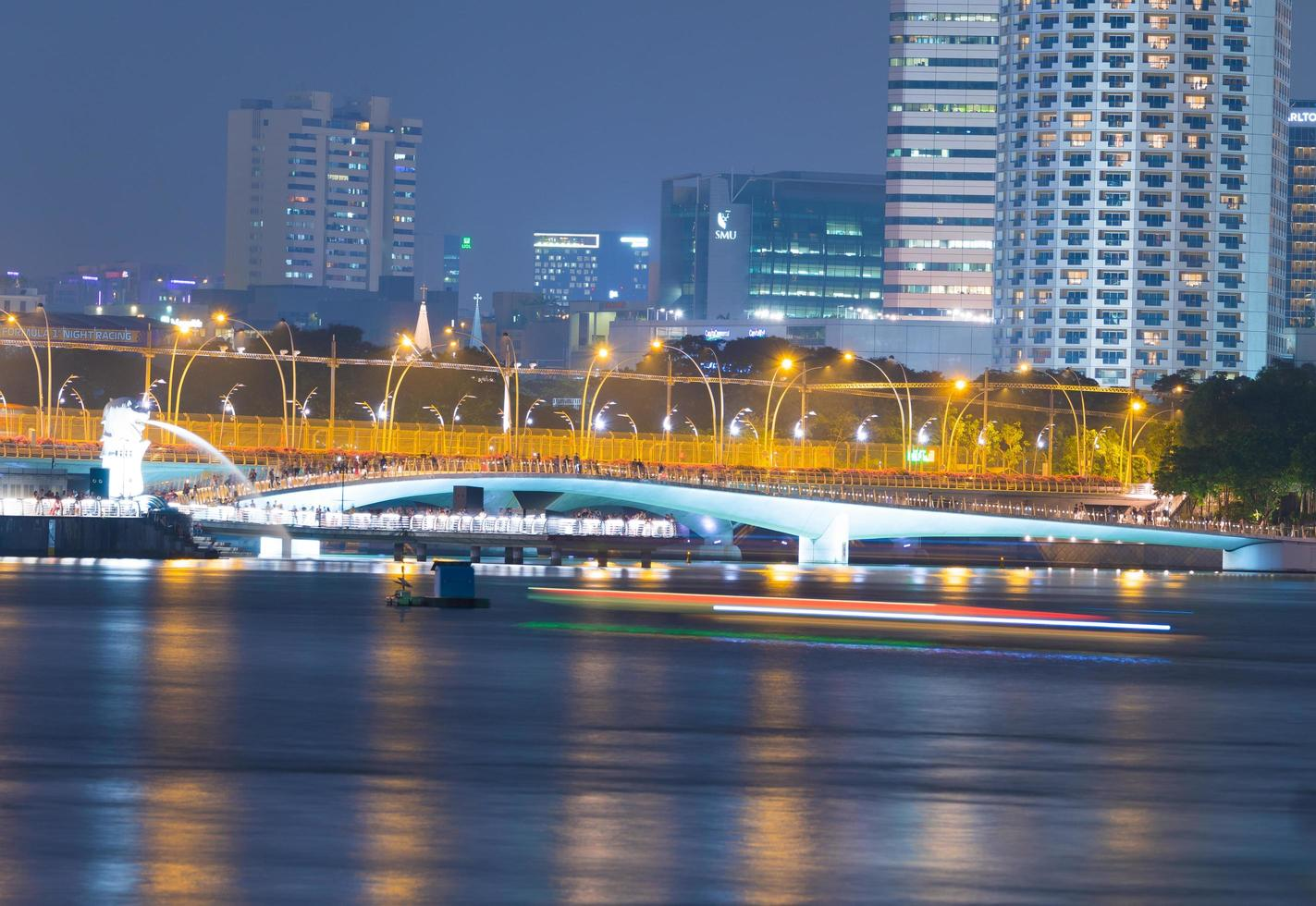 Waterfront en la ciudad de Singapur foto