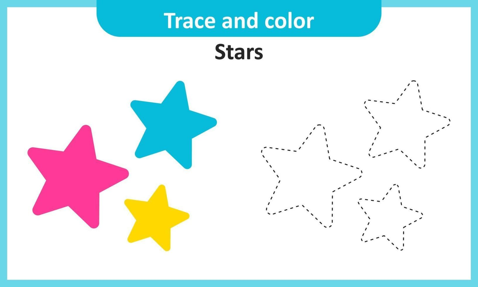 Trace and Color Stars vector