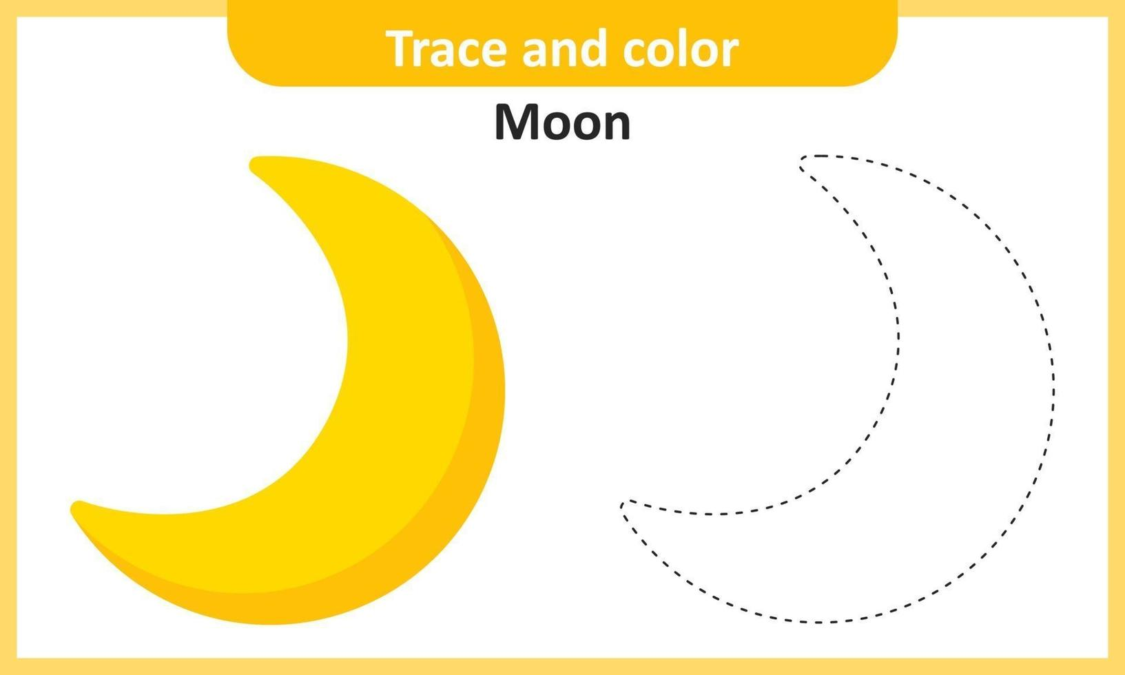 Trace and Color Moon vector