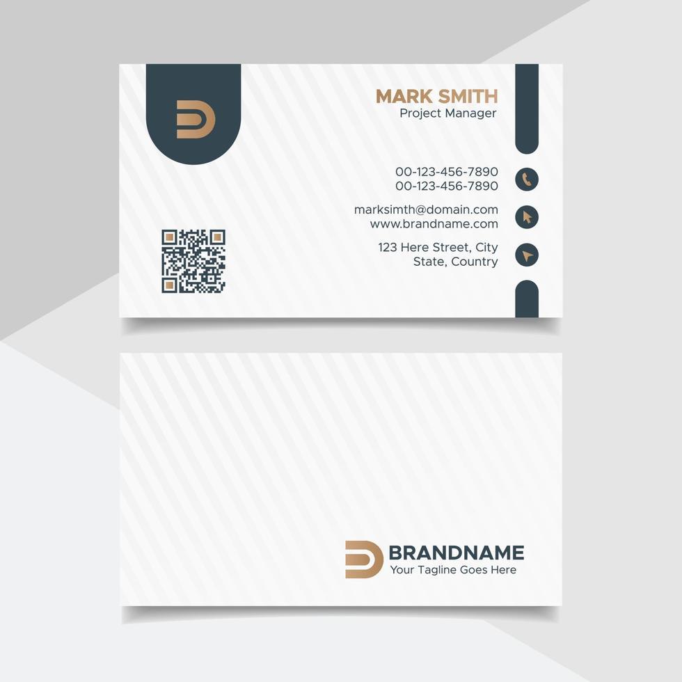 Imprimir diseño de tarjeta de visita en blanco y negro, plantilla de tarjeta de visita de estilo legal de bufete de abogados vector