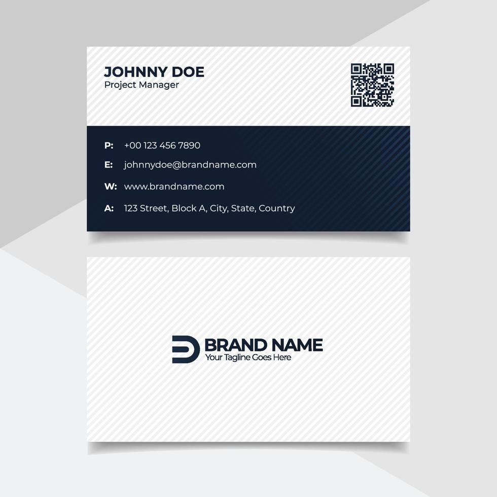 diseño de tarjeta de visita corporativa en blanco y negro, plantilla de tarjeta de visita de estilo legal de bufete de abogados vector