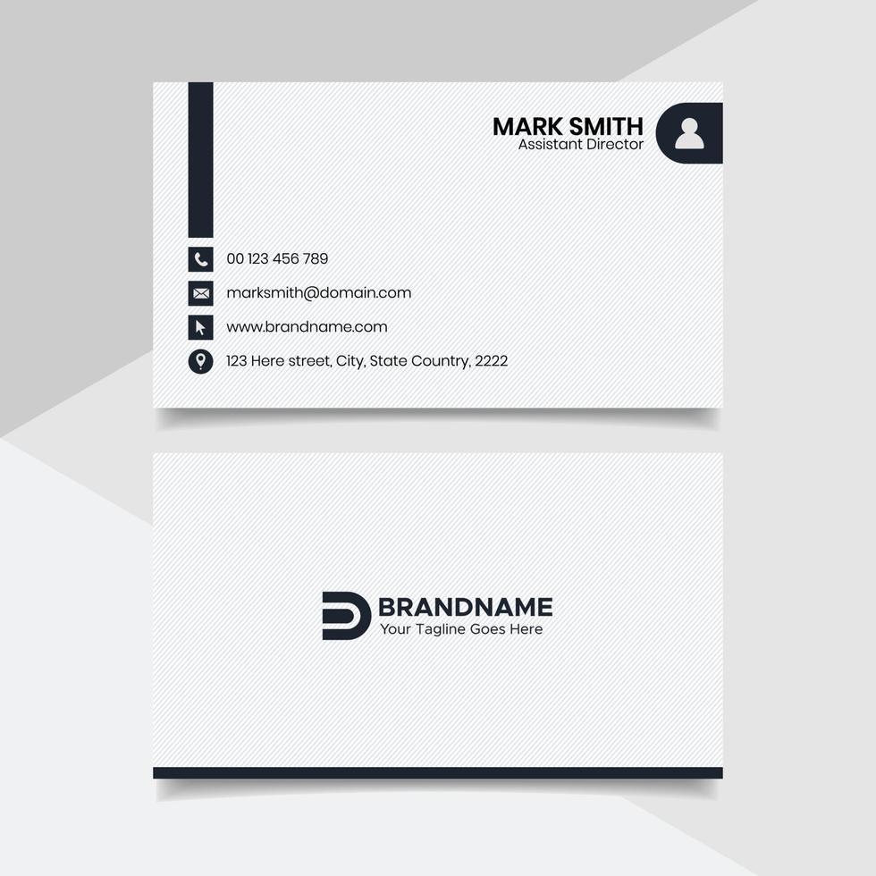 diseño de tarjeta de visita en blanco y negro, plantilla de tarjeta de visita de estilo legal de bufete de abogados vector