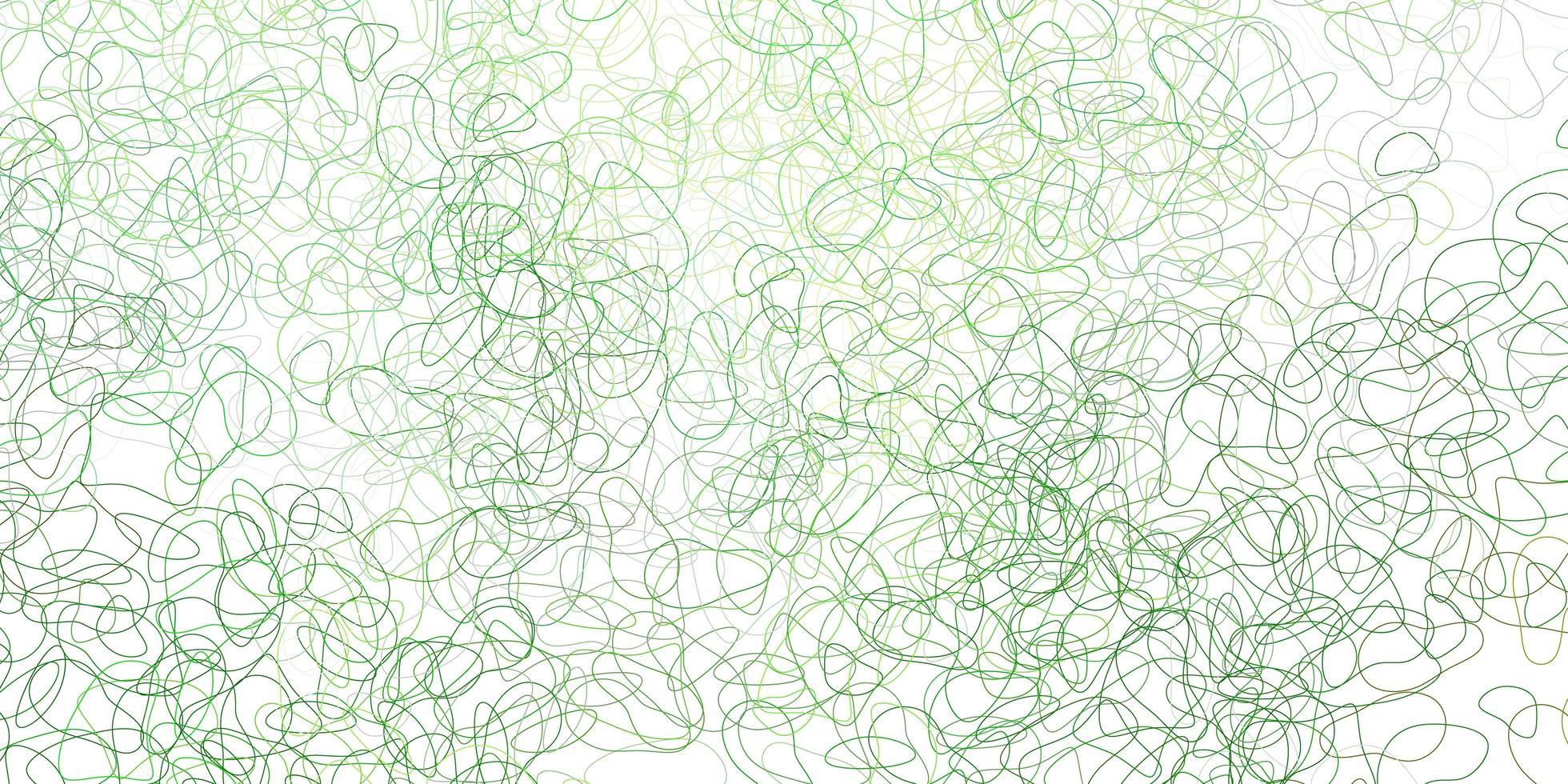 Fondo de vector verde claro, amarillo con formas caóticas.