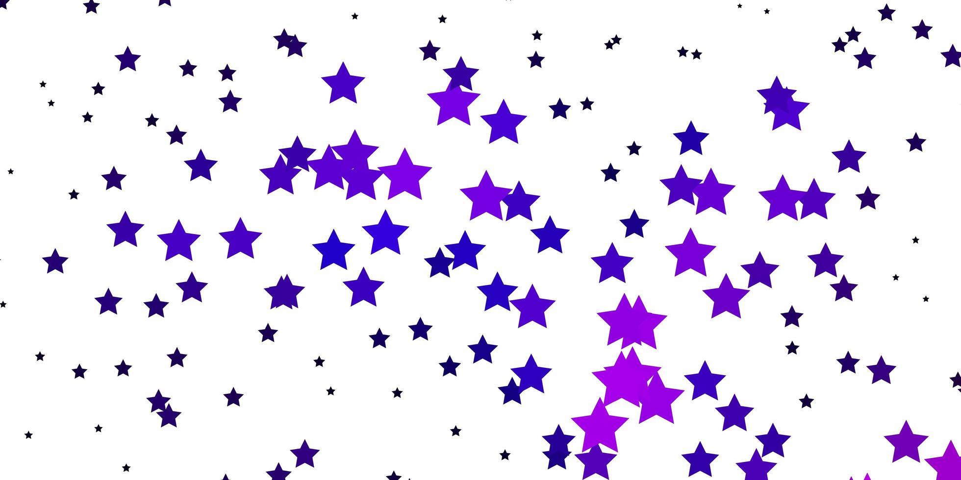 textura de vector púrpura oscuro, rosa con hermosas estrellas.