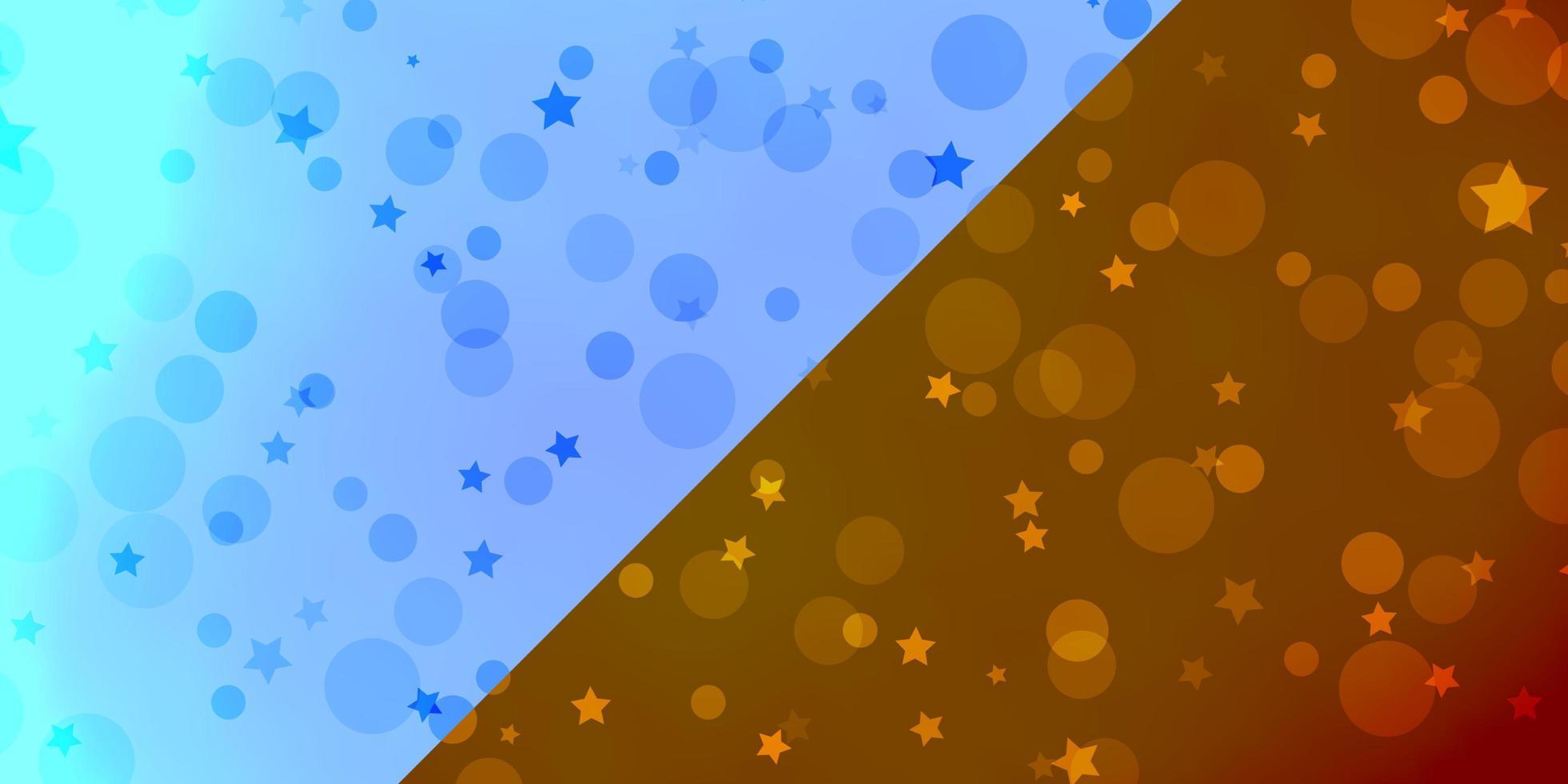 patrón de vector con círculos, estrellas.
