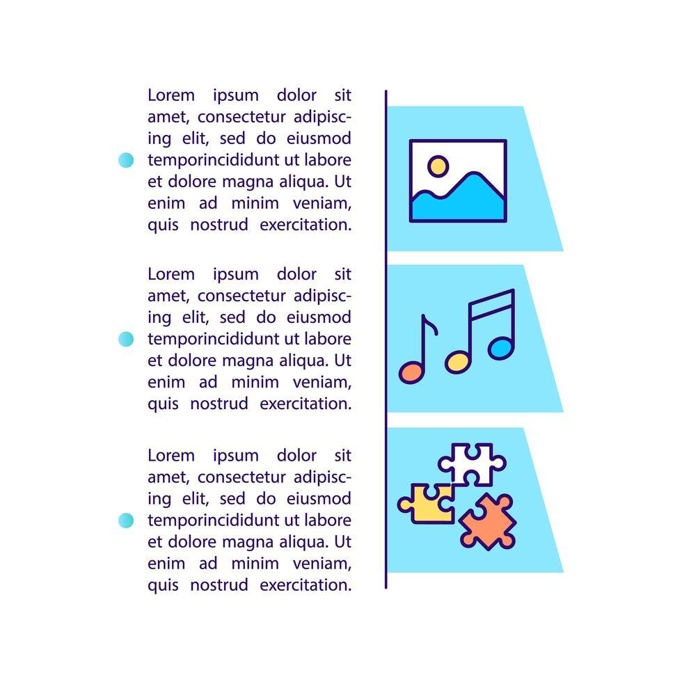 entretenimiento para el icono del concepto de ocio con texto vector