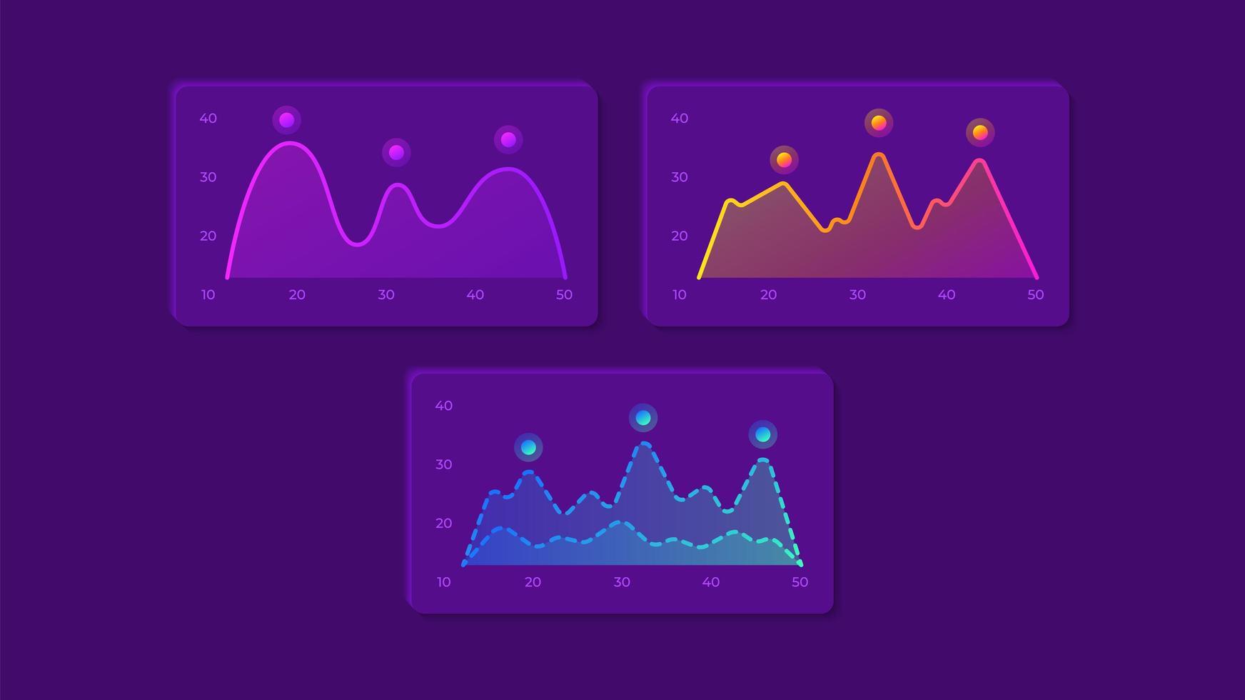 kit de elementos de la interfaz de usuario de gráficos vector